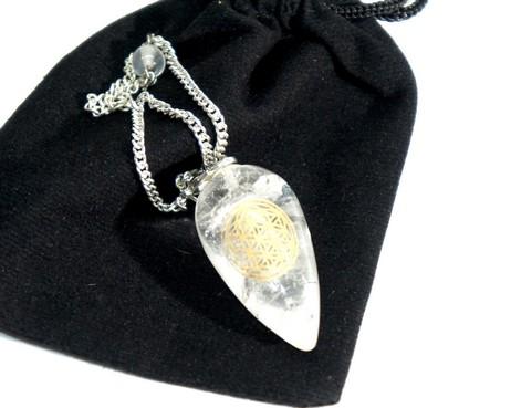 Bergkristall-Pendel Blume des Lebens