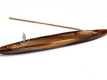 Räucherstäbchenhalter Schiffchen aus Holz