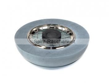 Zen Räuchergefäß groß Speckstein grau mit Gitter