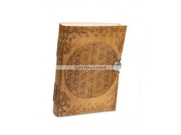Buch der Schatten - Blume des Lebens | Notizbuch mit Ledereinband