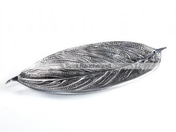 Blatt silber - Räucherstäbchenhalter