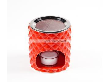 Dalia Räucherstövchen rot mit Edelsstahlsieb