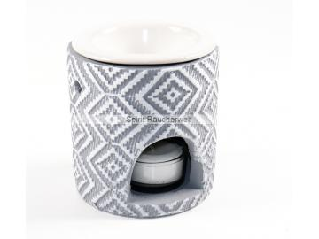 Duftlampe / Aromalampe Ava - modern für äth. Öle - hellgrau