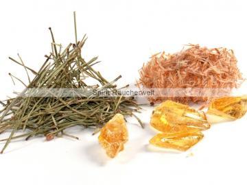 Kiefer Räucherwerkset - Kiefernnadeln Kiefernsprossen Kierfernharz zum räuchern