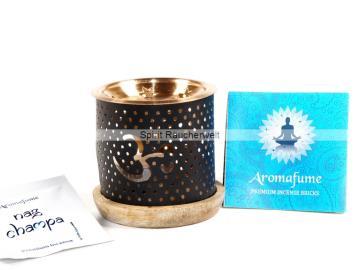 Ohm - Aromafume Diffuser - 3 teiliges Stövchen mit Kupferteller