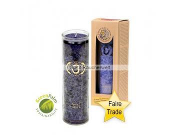 Chakra Kerze - 6. Chakra Kerze im Glas mit naturreinen äth. Ölen - faire Trade und GreePalm zertifiziert