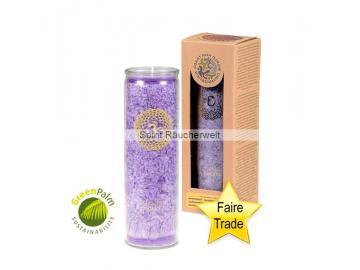 Chakra Kerze - 7. Chakra Kerze mit naturreinen äth. Ölen - faire Trade und GreenPalm zertifiziert