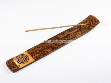 Spirale - Räucherstäbchenhalter aus Palmholz