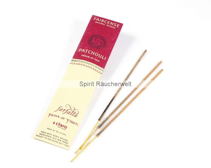 Patchouli - Farfalla Natural Faircense Räucherstäbchen - naturrein und nachhaltig