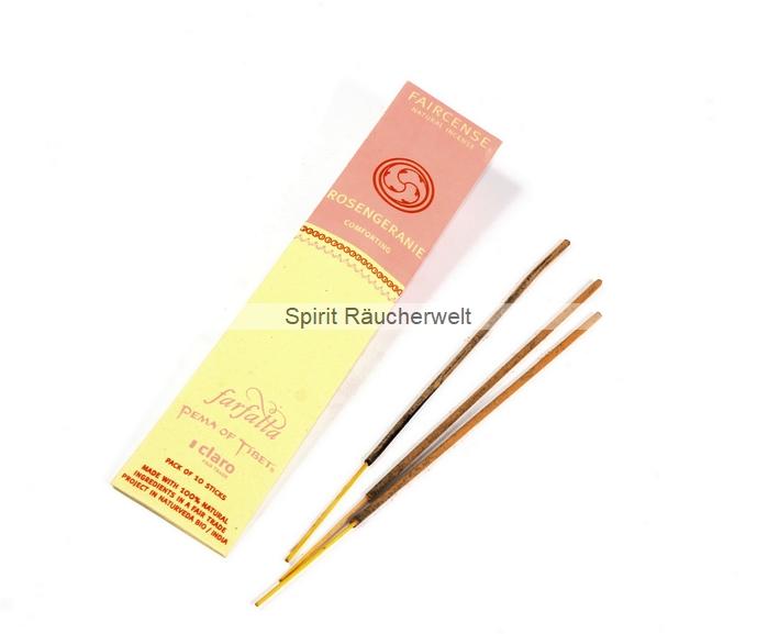 Rosengeranie - Farfalla Natural Faircense Räucherstäbchen - naturrein und nachhaltig
