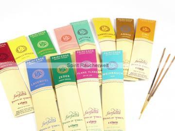 12er-Set Farfalla Räucherstäbchen - Natural Faircense - naturrein und nachhaltig