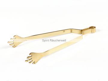 Hände Räucherzange - Kohlenzange Messing