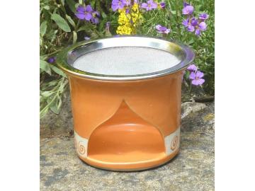 Spirale Räucherstövchen orange 12cm