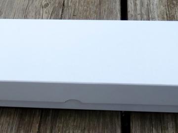 Karton mit Deckel weiß 37x9,5x4,5cm