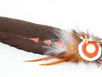 Räucherfeder braun-orange   schamanisches Zubehör