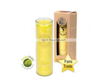 Chakra Kerze - 3. Chakra Kerze im Glas mit naturreinen äth. Ölen - faire Trade und GreenPalm zertifiziert
