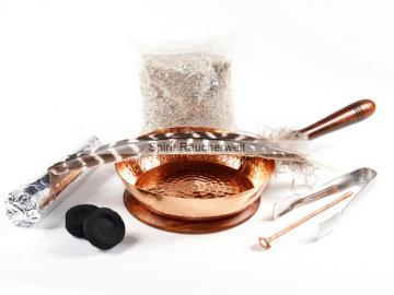Räucherset Aleene mit Kupferpfanne zum Haus ausräuchern