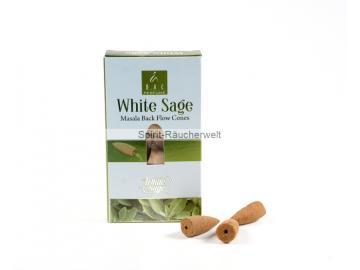 Balaji White Sage Masala Rückfluss - Backflow Räucherkegel - Goloka