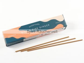 Bitter Pink Ginger | Scentsual  - natürliche japanische Räucherstäbchen | Nippon Kodo