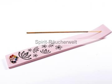 Chakra Räucherstäbchenhalter aus Holz