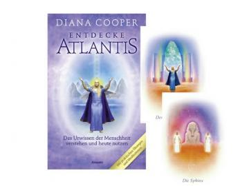 Entdecke Atlantis - Buch +  46 Orakelkarten von Diana Cooper
