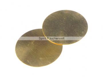 Räucherplättchen Messing   Durchmesser 50mm - für Weihrauchstövchen