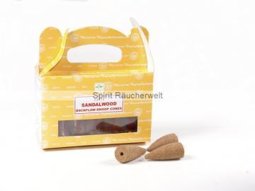 Sandelholz (Sandalwood) Rückfluss - Backflow Räucherkegel von Satya