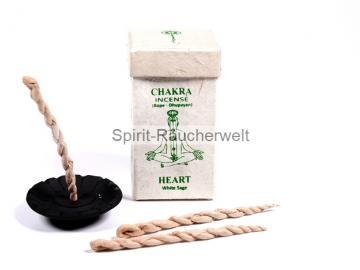 Nepal Räucherschnüre – Herz Chakra - White Sage