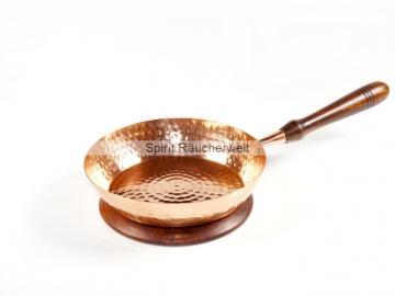 Aleene Räucherpfanne aus Kupfer mit Holzgriff ohne Deckel