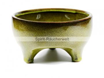Räucherschale Rion aus Keramik mit Füßchen