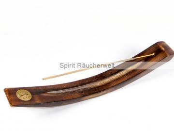 Baum des Lebens - Holz Räucherstäbchenhalter