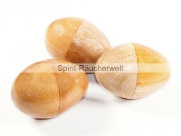 Rassel Ei - Ei Shaker- Schamanen Rassel   Holz natur