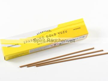Sparklink Gold Yuzu | Scentsual  - natürliche japanische Räucherstäbchen | Nippon Kodo