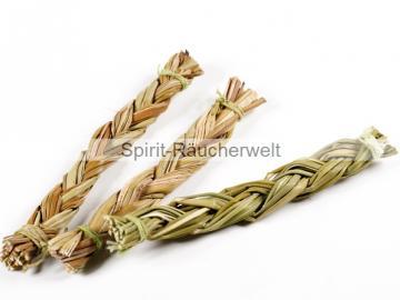 Sweetgras Zopf klein - 10cm   Indianisches Räucherwerk
