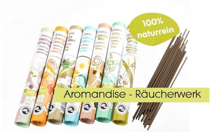 Aromandise pflanzliche Bio Ru00e4ucherstu00e4bchen  Les Encens du Monde