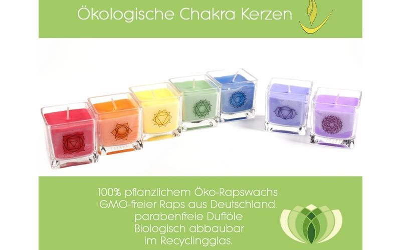 Chakra Kerzen Set - u00f6kologisch & faire Trade