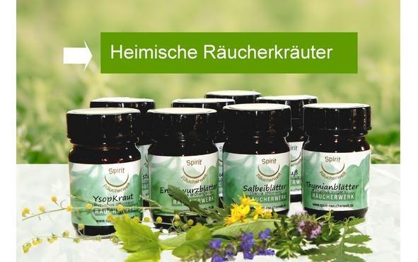 heimische Kru00e4uter zum Ru00e4uchern - Bio Beifuu00df Salbei Engelwurz Andorn Wermut
