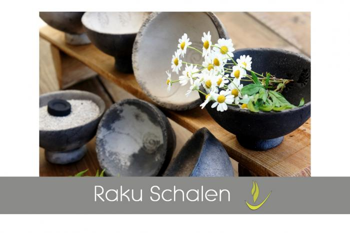 Raku - Keramik Räucherschalen