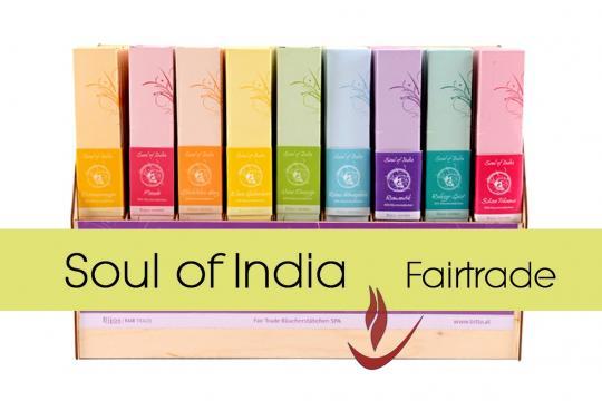 Soul of India Räucherstäbchen fairtrade