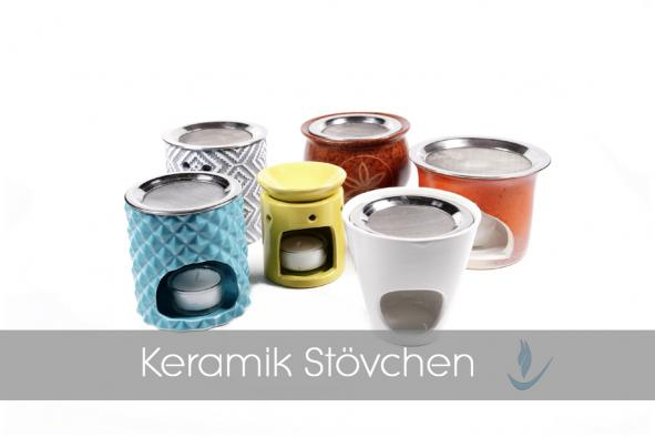 Räucherstövchen Keramik mit Sieb