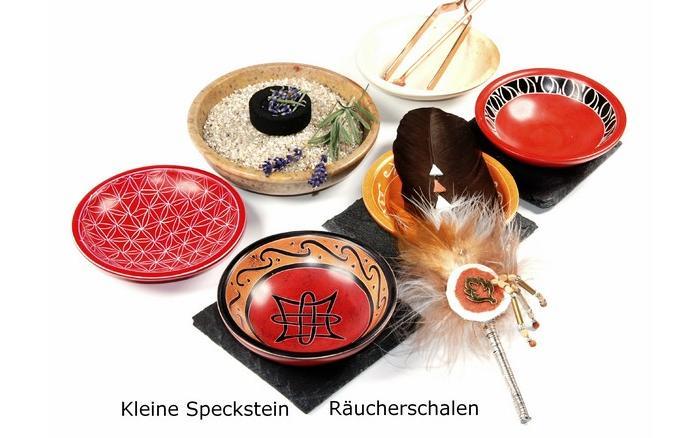 Ru00e4ucherschalen Speckstein flach