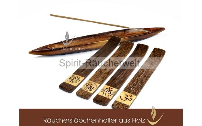 Ru00e4ucherstu00e4bchenhalter aus Holz