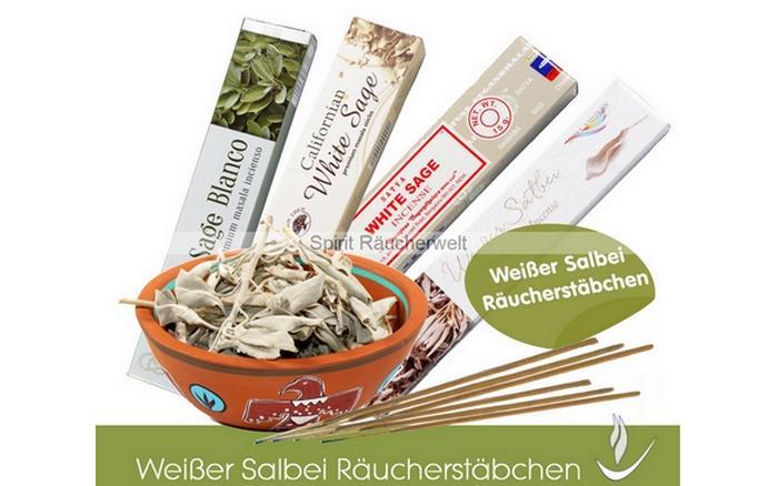 white Sage - weiu00dfer Salbei Ru00e4ucherkegel & Ru00e4ucherkegelhalter