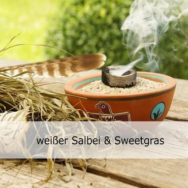 weißer Salbei Sweetras Räucherbündel