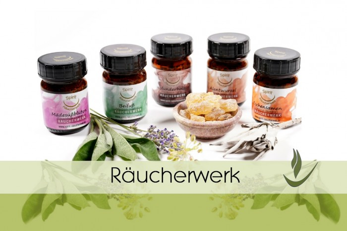 Räucherwerk - Räucherstoffe - Harze Kräuter Blüten Hölzer Wurzeln Samen